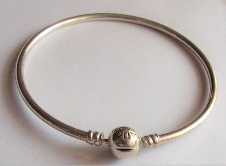 Authentic PANDORA Essence Sterling Silver Bangle Charm Bracelet Mothers Day Gift #PANDORA