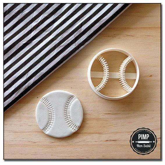 Emporte-Pièce 3D Balle de Baseball / Kit pâte à par pimpmonsable