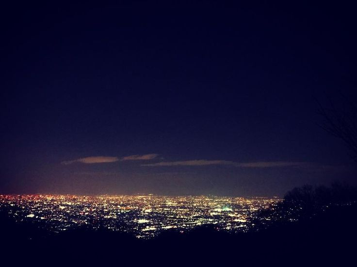 キラメキスペシャルのあとは、本物のキラメキ✨ #夜景 #生駒#夜のドライブ #寒くて外に出れない #ほんまのことゆーたら  #夜景よりも#星空が好き