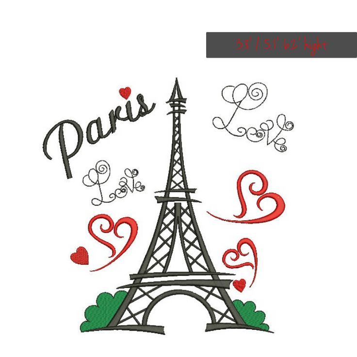 Paris machine embroidery design Eiffel tower designs instant digital download pattern  designs in the hoop French file towel by SvgEmbroideryDesign on Etsy