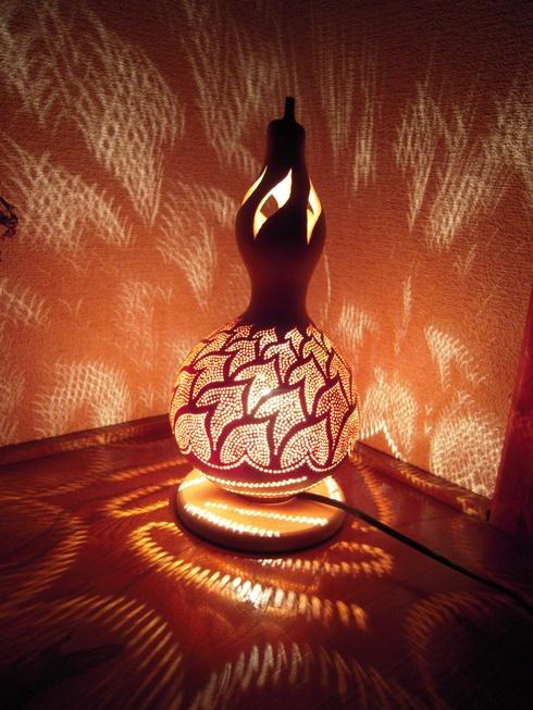 Gourd lamp. Wow.