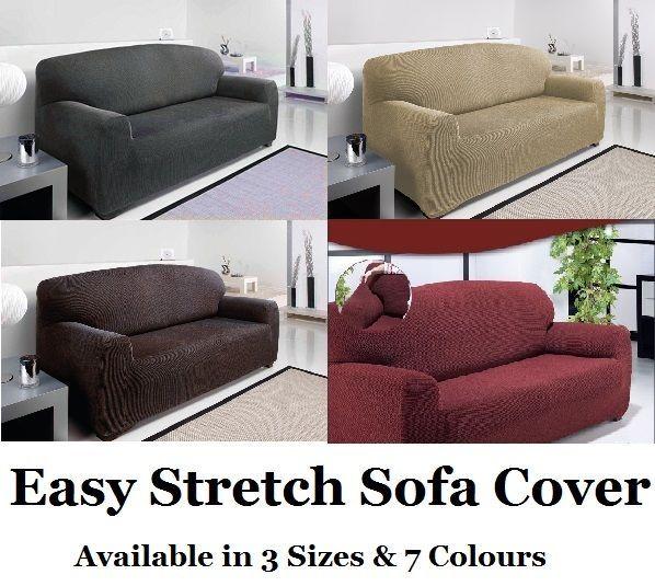 Easy Stretch Elastic Fit Fabric Sofa Settee Slip Cover 1 2 3 Seater Sofa Fabric Sofa Slipcovers