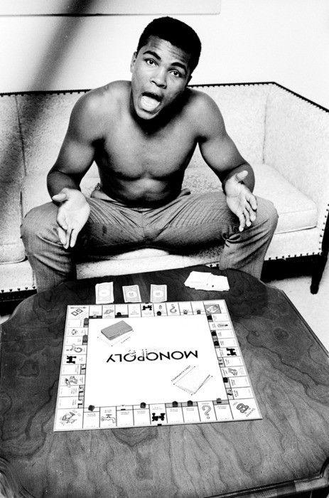 Muhammad Ali playing Monopoly, 1963 by Steve Schapiro