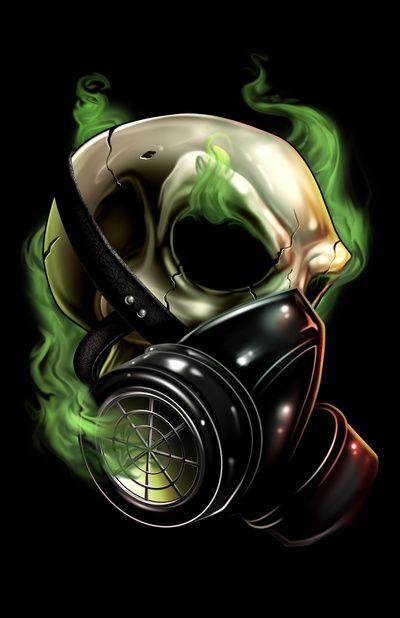 Gas Mask Art | Skull/Gas mask 12 Art Print by Landon L. Armstrong | Society6