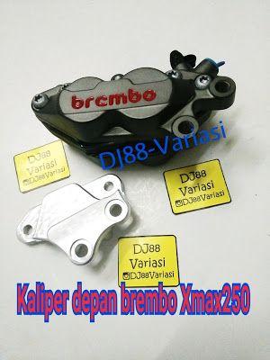 Kaliper brembo depan xmax 250 with bracket plug and play xmax 250 caliper 4 piston 1 pin