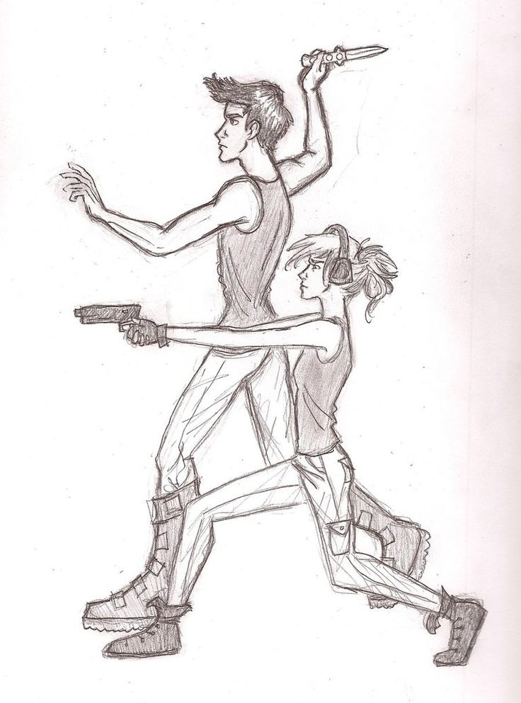 divergent fan art | kickin_butt_and_takin_names_by_iabri71-d4nfa54.jpg  This picture is weird. It kinda makes me laugh because tris and Tobias's body's are soooo thin! Te-he!