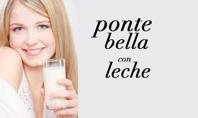 Tips de belleza con leche-Beauty tips with milk