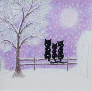 """Cats in the Snow"" by Claudine Péronne"