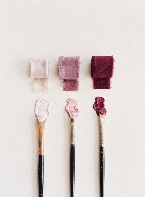 kiki0113 // art // creative // artistic // paint // paintbrush // burgundy // pink