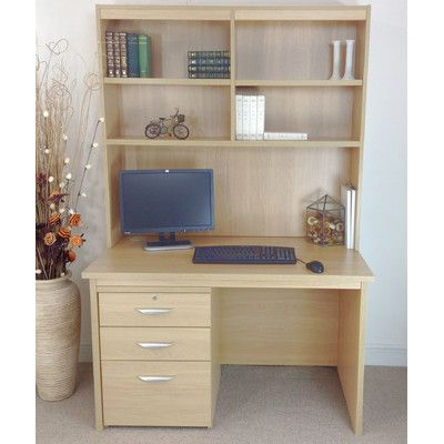Found it at Wayfair.co.uk - Computer Desk with Filing Cabinet and Hutch