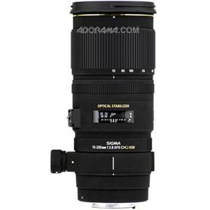 Sigma 70-200mm f/2.8 EX DG OS HSM Auto Focus Telephoto Zoom Lens for Nikon AF