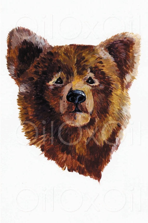 Bear Art Print by OilOxOil on Etsy, $12.00