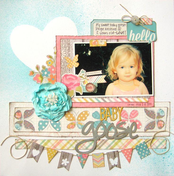 #papercraft #scrapbook #layout. Baby Goose {My Creative Scrapbook} - Scrapbook.com