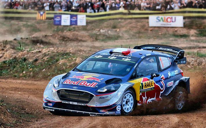 Download wallpapers 4k, Sebastien Ogier, 2017 cars, WRC, M-Sport WRT, rally, World Rally Champion, Ford Fiesta WRC