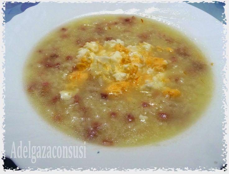 Recetas Light: Sopa de arroz con jamón ( 245kcal)