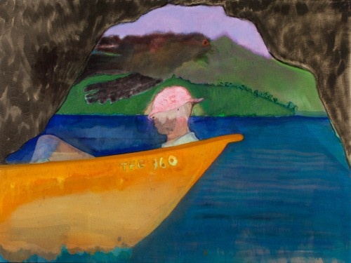 Peter Doig: Cave Boat Bird Painting Michael Werner Gallery - Exhibitions