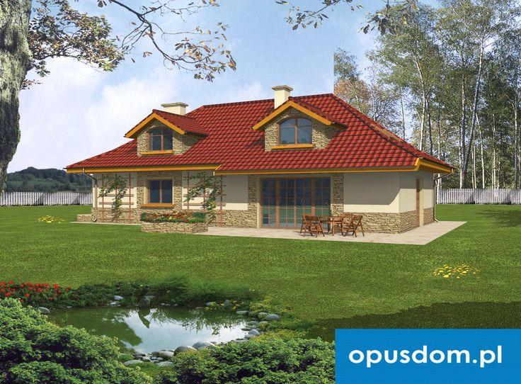 Sadyba - projekt domu 106,4m2 + garaż - autorstwa Pracowni Opus - www.opusdom.pl