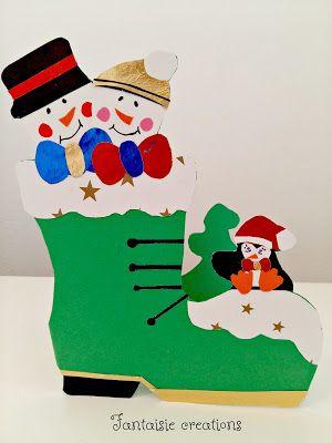 Fantaisie Creations: Χειροποίητη Χριστουγεννιάτικη Κάρτα
