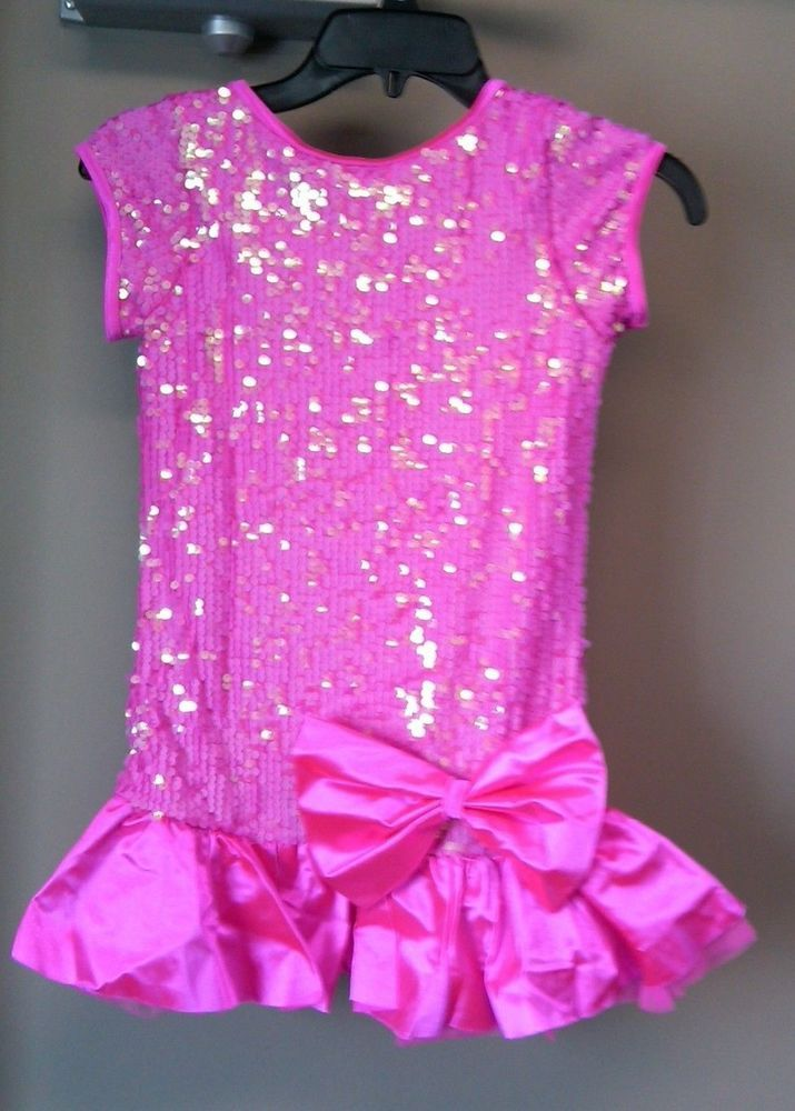 1b4090f25 Weissman Dance Costume Pink Cerise Size LC NEW with Hair Bow Barette ...