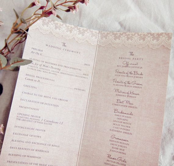 Best 25+ Wedding programs vintage ideas only on Pinterest ...