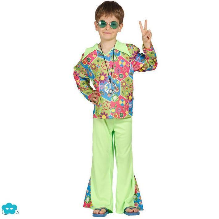 847a80247 Disfraz de hippie colorido para niño | Disfraces años 20,60,80 para ...