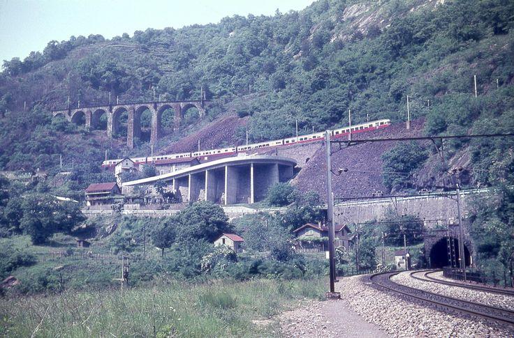 Gotthardbahn, Talstufe Biaschina, TEE-Zug, 1967