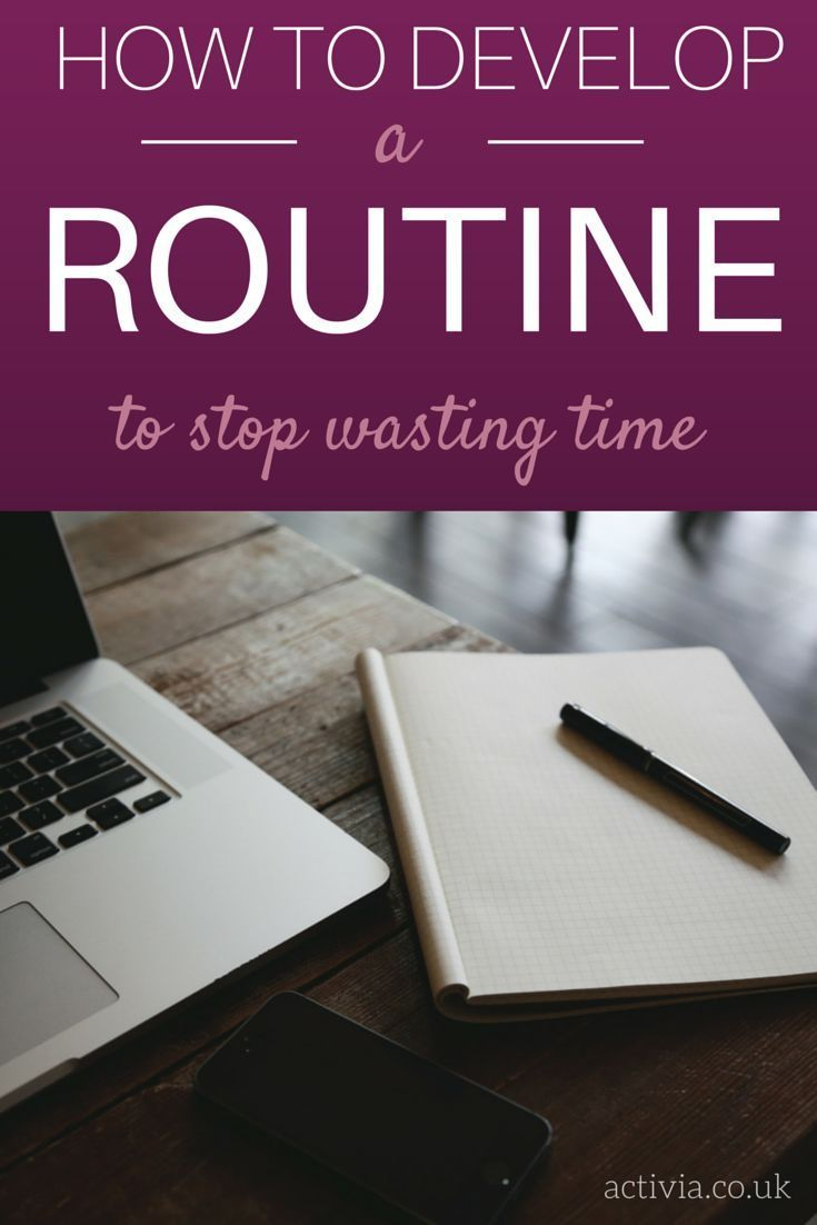 Poor time management can have a huge impact on your productivity. The key is to develop a routine that will allow you to work more efficiently and make the best use of your time. By having a routine in place you can avoid wasting unnecessary time trying to continuously plan out the day ahead and just get on with your work instead. Find out how you can create an effective routine at http://www.activia.co.uk/blog/how-to-stop-wasting-time