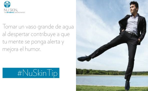 Recuerden tomar un vaso de agua mañana al despertar #NuSkinTip
