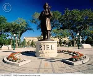 Louis Riel monument ..Winnipeg Manitoba