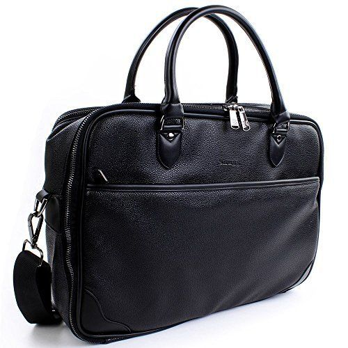 New Trending Briefcases amp; Laptop Bags: Laptop Briefcase in Black Leather from The Snugg8482; - Holds Laptops, Macbooks and Tablets up to 15.6 - With Carry Handles and Shoulder-Strap - 12 Month Guarantee. Laptop Briefcase in Black Leather from The Snugg8482; – Holds Laptops, Macbooks and Tablets up to 15.6″ – With Carry Handles and Shoulder-Strap – 12 Month Guarantee   Special Offer: $24.99      400 Reviews The Snugg™ Laptop Briefca