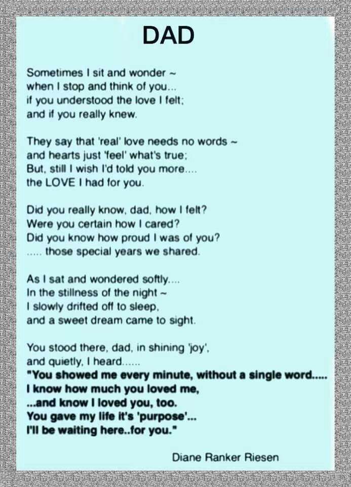 Angle dad poem | Religious quotes and prayers | Pinterest ...