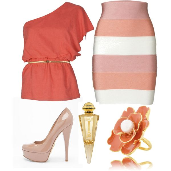 .: Fashion Springoutfit, Colors Outfits, Outfits Fashion, Coral Colors, Springoutfit Nice, Springoutfit Www 2Dayslook Com, Spring Outfits