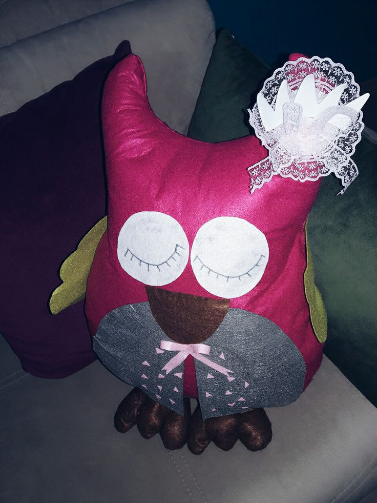 Keçe yastik_owl pillow