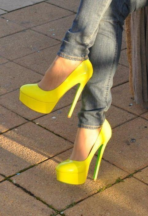 Super bright yellow that will definitely catch all eyes!!!!!!!!