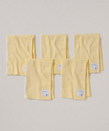 This Sunshine Organic Burp Cloth - Set of Five by Burt's Bees Baby is perfect! #zulilyfinds