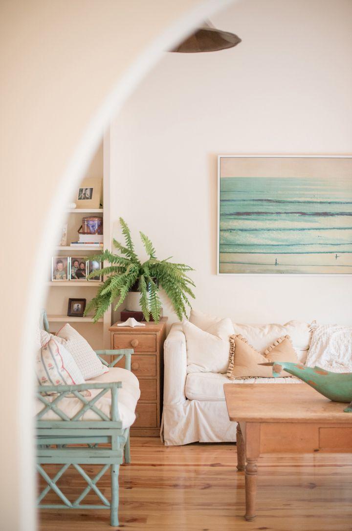 coastal-inspired living room
