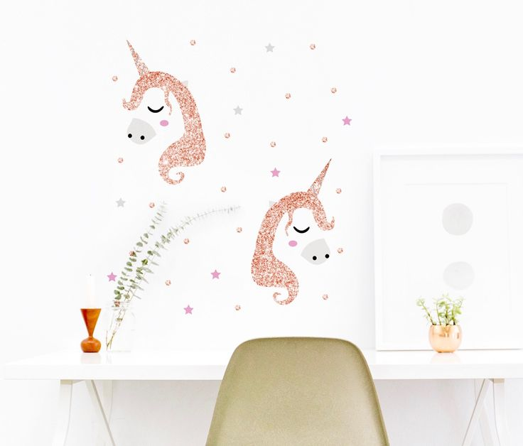 We have added a beautiful Rose Gold option for our Unicorn wall sticker set! Check it out at:  http://magicwallpaper.co.nz/producto/rose-gold-unicorns/