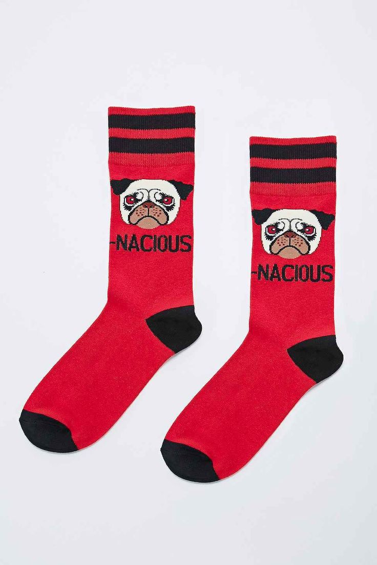 Dognacious Socks in Red - Urban Outfitters