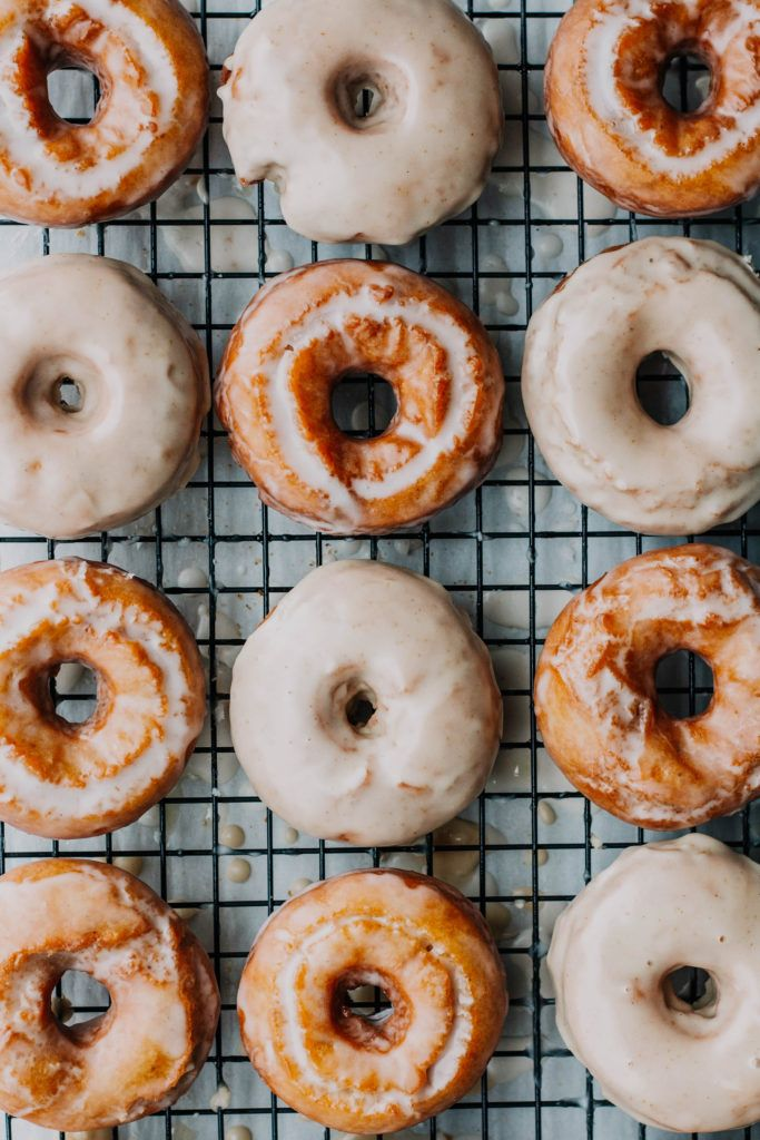 Sour Cream Cake Donuts With Maple Brown Butter Glaze In 2020 Pumpkin Spice Cake Sour Cream Donut Doughnut Cake