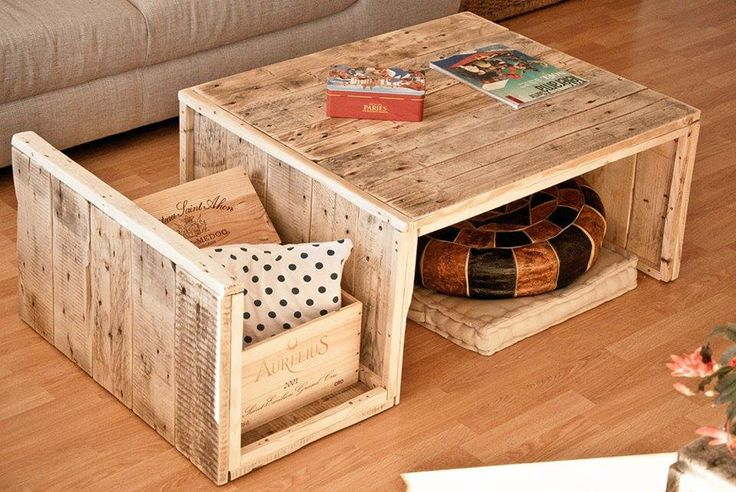 Table basse en palettes d coration pinterest tables - Acheter table basse palette ...