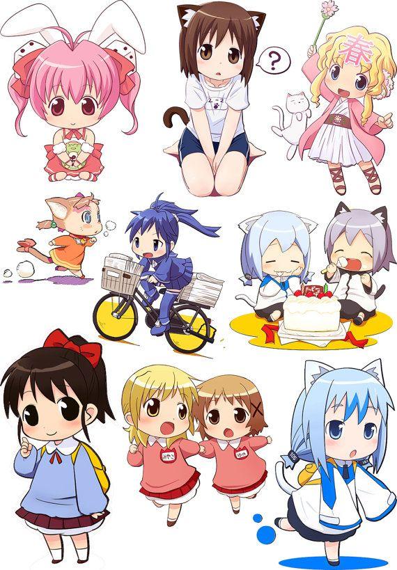 Anime Chibi / Clear stamps large sheet 7x10 UM FLONZ by flonz, $17.99