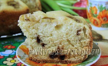 Пирог с бананами в мультиварке на кефире