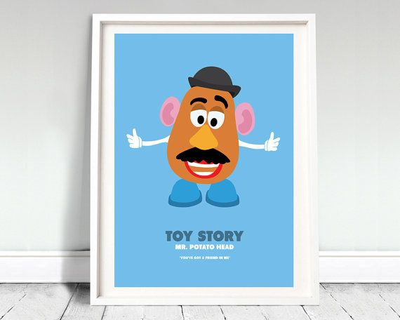 "MR POTATO HEAD Toy Story movie poster: 12x16"" (A3) art"