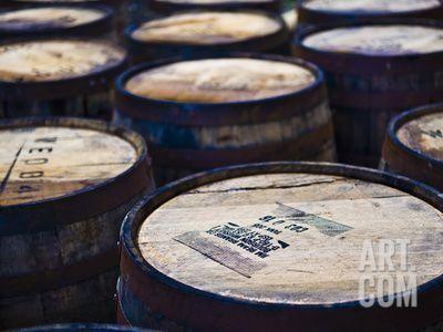 Jura Whisky Distillery Barrel Storage, Jura Island, Inner Hebrides, Scotland, UK, Europe Photographic Print by Andrew Stewart at Art.com