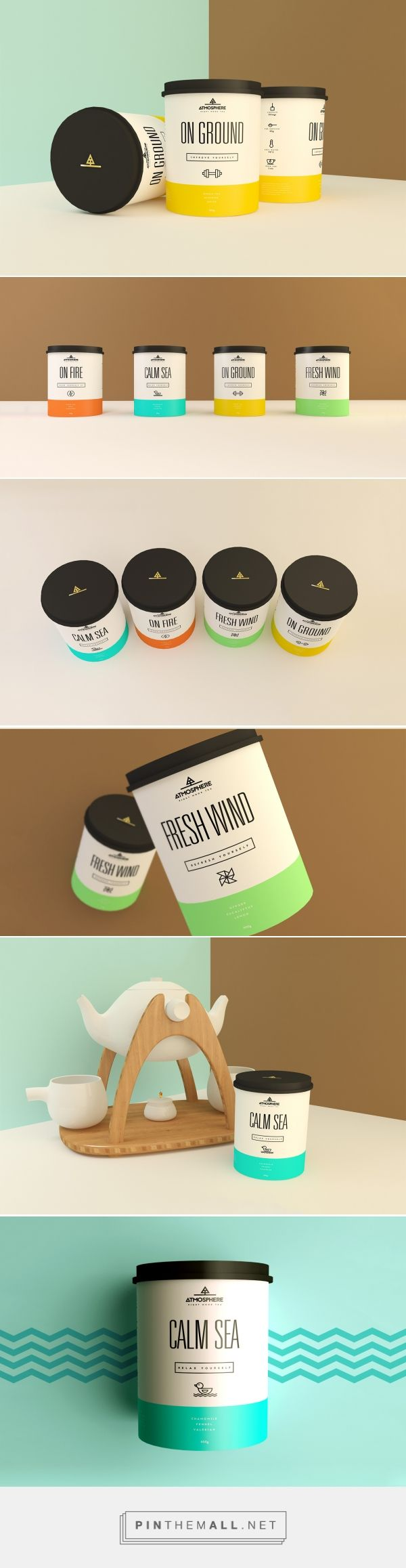 Atmosphere is a new brand that wants to bring a new concept for teas. Designed by Paloma Martins