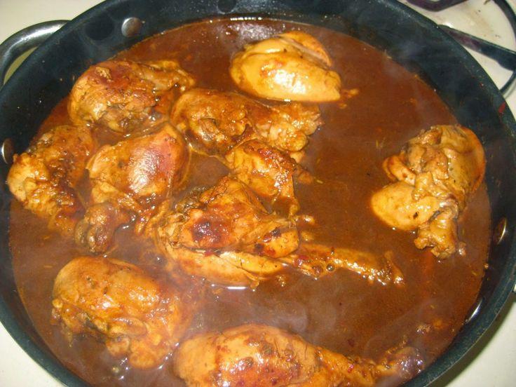 Receta de Comida Mexicana: Pollo en Adobo – Chicken In Adobo Sauce Mexican Recipe |