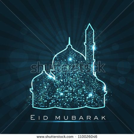 stock-vector-beautiful-greeting-card-for-eid-mubarak-festival-with-shiny-mosque-and-masjid-image-eps-110026046.jpg (450×470)