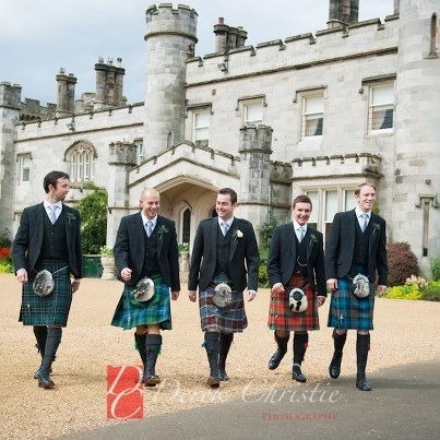 Mark and the Boys at Dundas Castle his and Karen's wedding.  www.derekchristiephotography.com  #scottishwedding #kilts #wedding #castle #weddingoutfits