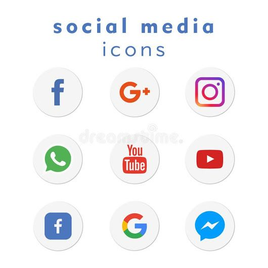 A new 2018 collection of 9 popular social media icons in circular shapes for use in print and web projects. Icons include Facebook, Google, Instagram, W... - Eduard I.P. - Google+