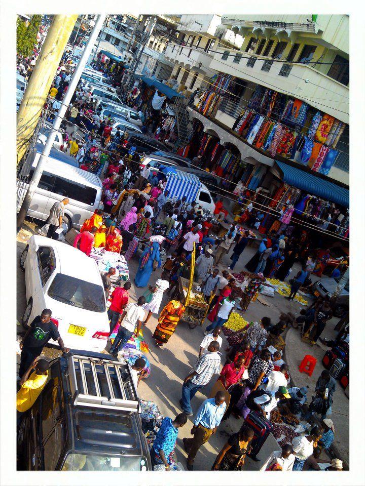 kariakoo market in dar es salaam, tanzania